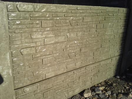 Clôture en béton imitation pierre