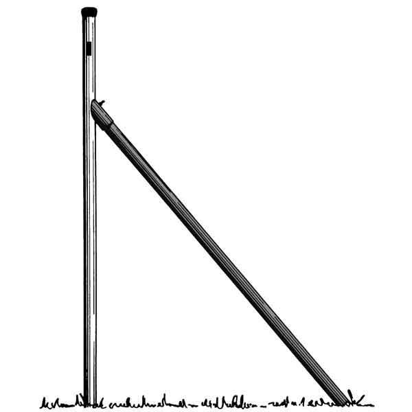 Jambe de force pour poteau