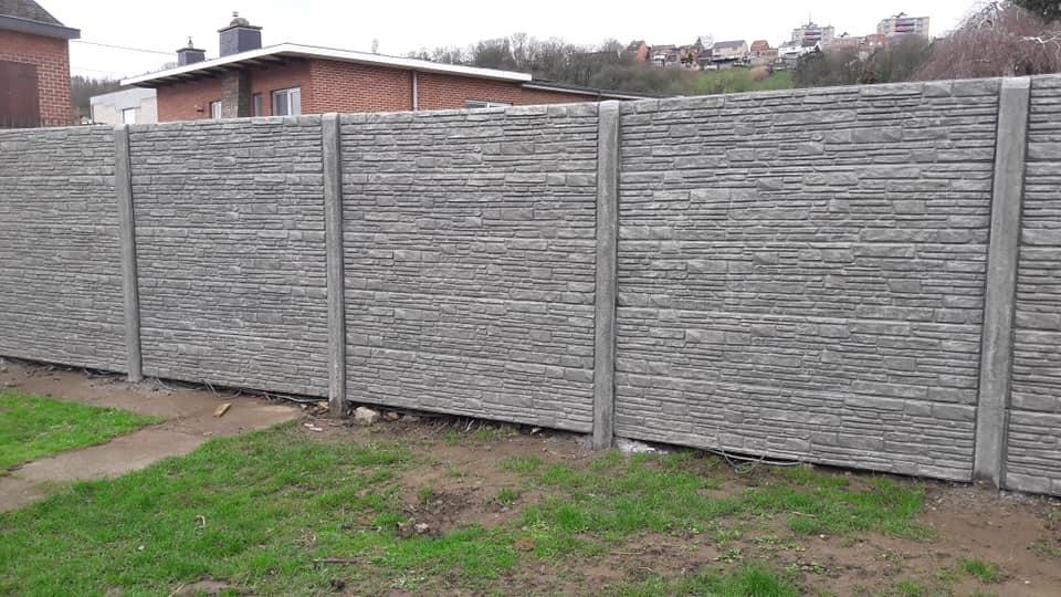 Clôtures et panneaux en béton (brise vue) en Belgique | Coden