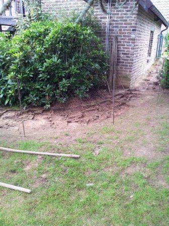 Pose d'une clôture béton à Awans