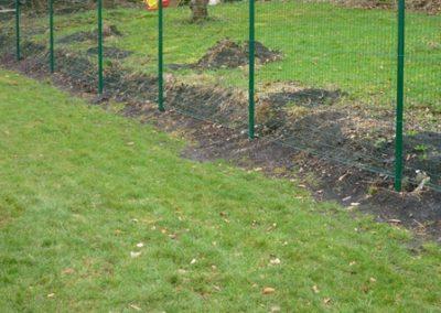 Pose de poteaux pour clôture