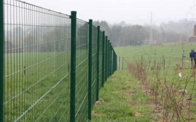 Délimitation d'un terrain grâce à une clôture à Olne