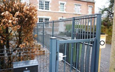 Pose de clôture en panneaux rigides à Aywaille