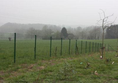 Poteau pour clôture à Olne