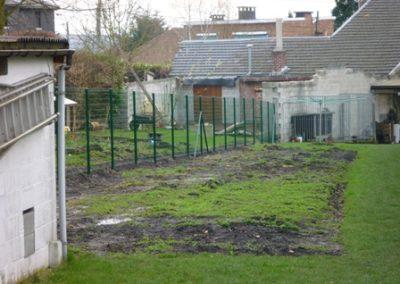 Clôture en treillis soudé à Grivegnée - Aménagement de jardin
