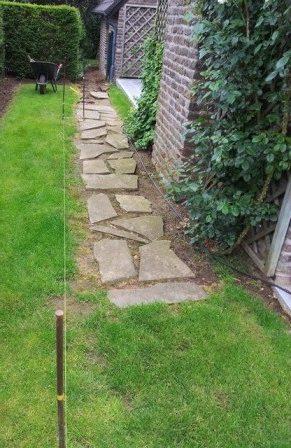 Pose clôture en béton - Jardin